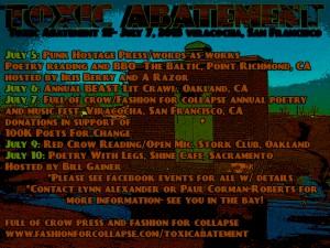 toxic abatement, elynn alexander, beast crawl, punk hostage, toxic abatement