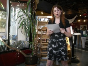 Elynn Alexander, Poetry Feature at Jeanne Lupton's Bread Workshop Poetry Series. Berkeley.