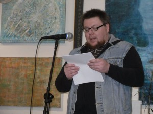 Tim Murray. Cleveland Poetry Crawl, Broken Pulpit Poetry Reading.