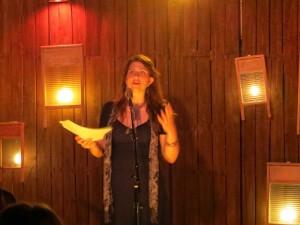 Elynn Alexander. Lynn Alexander. Poet. Artist. Full Of Crow's Second Annual Toxic Abatement Poetry Fest. Viracocha, San Francisco.