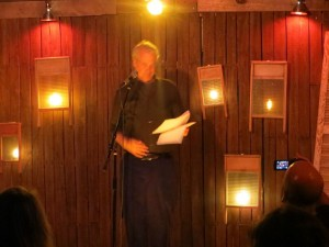 """Steven Gray. Poet. """"Out Of Our"""". Full Of Crow's Second Annual Toxic Abatement Poetry Fest. Viracocha, San Francisco."""