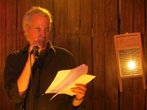 """Steven Gray. """"Out Of Our"""". Full Of Crow's Second Annual Toxic Abatement Poetry Fest. Viracocha, San Francisco."""