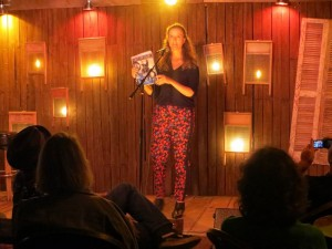 """Sarah Page. Poet. """"Out Of Our"""". Full Of Crow's Second Annual Toxic Abatement Poetry Fest. Viracocha, San Francisco."""