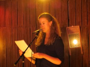 Sarah Page. Full Of Crow's Second Annual Toxic Abatement Poetry Fest. Viracocha, San Francisco.