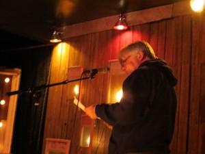 "Nicholas Karavatos. ""No Asylum"".Full Of Crow's Second Annual Toxic Abatement Poetry Fest. Viracocha, San Francisco."