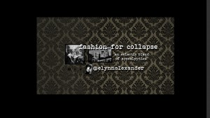youtube, video, elynn alexander, fashion for collapse, poetry