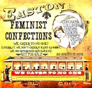 easton feminist confections, elynn alexander, poetry, baked goods, candy, vintage, cakes, cookies, cupcakes