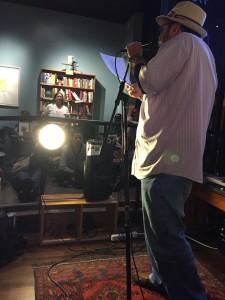 Bill Gainer. Full of Crow poetry Reading. Oakland. 2015. Elynn Alexander.