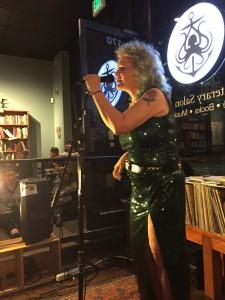 Jennifer Blowdryer. Full of Crow Poetry Reading. 2015. Oakland. Elynn Alexander. 2015.