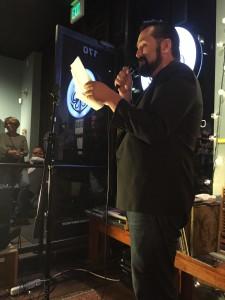 Baruch Porras Hernandez. Full of Crow Reading. Poetry. Octopus Literary Salon. Elynn Alexander. 2015.