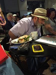 Bill Gainer. Full of Crow at beast literary crawl. elynn alexander. 2015.