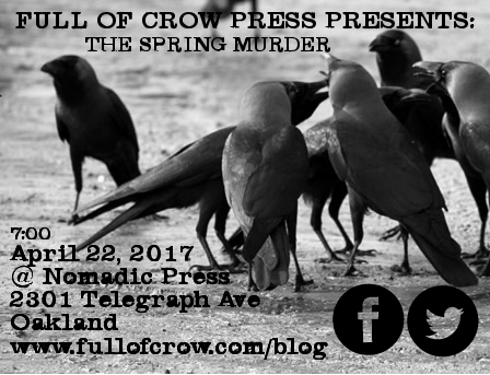 Full Of Crow Presents: The Spring Murder Reading